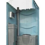 Portable toilet unit interior