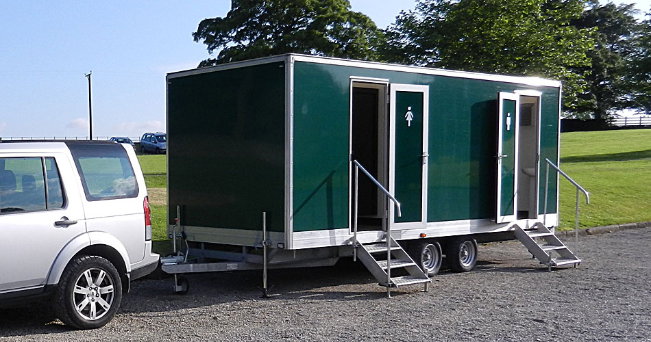 Large events toilet trailer