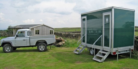 Small luxury toilet trailer