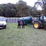 Joe and Oliver at Total Warrior, Bramham Park