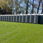A row of single units at a festival