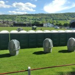 Toilet units at a music festival