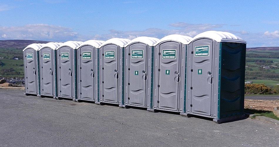 Portable toilet units