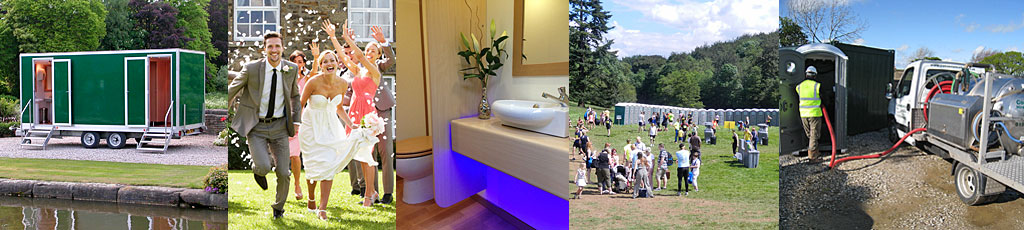 Toilet hire for events, weddings, construction sites