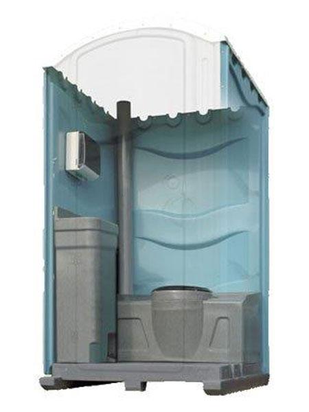 Portable toilet unit interior