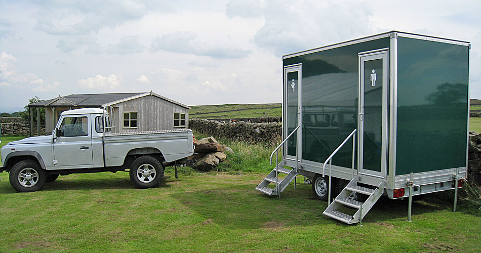 Small luxury toilet trailer